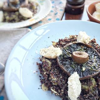 Quinoa Risotto with Mushroom & Whipped Feta.