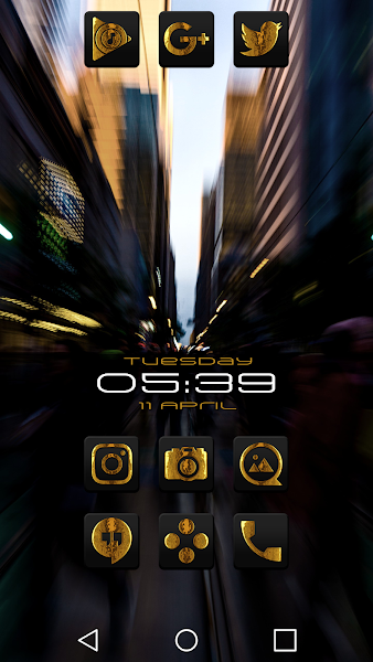 Raid Gold Black Icon Pack v1.1