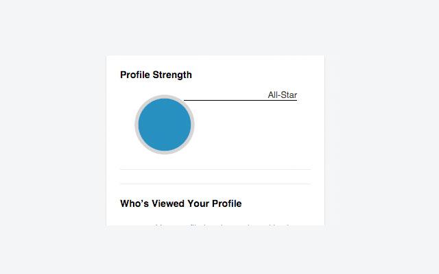 LinkedIn Blue Circle Filler