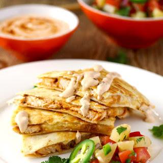BBQ Chicken Quesadilla with Smoked Gouda, Pineapple Salsa and Chipotle Crema Recipe