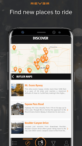 Rever Motorcycle - GPS Route Tracker & Navigation  screenshots 1