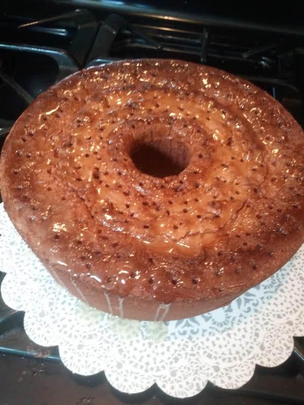 7- Up Pound Cake With Butter Glaze By Rose.