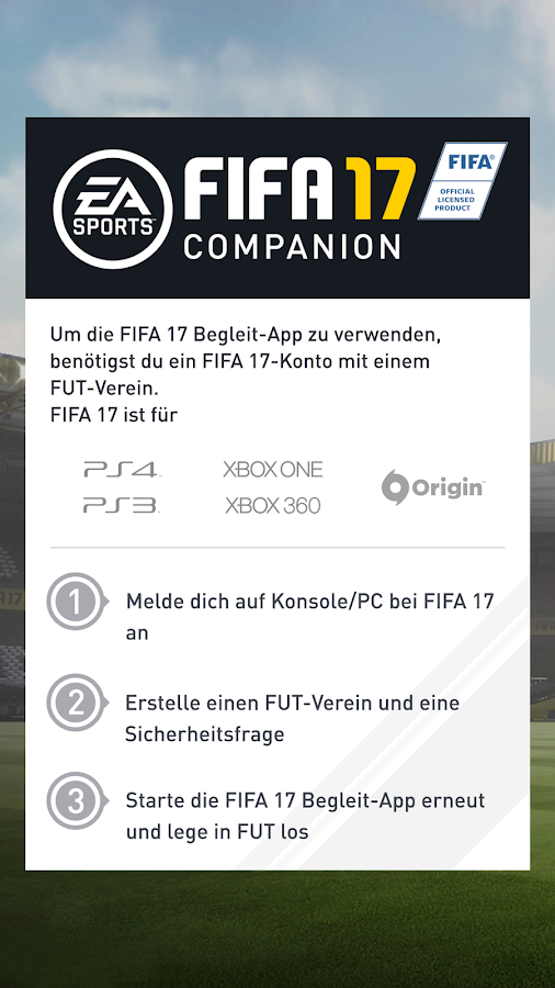 FIFA 17 Companion – Screenshot