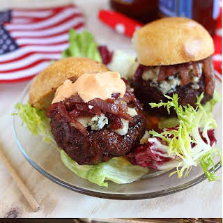 Cabernet and Gorgonzola Burger Sliders.