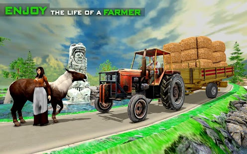 Real farming cargo tractor simulator 2018 - náhled
