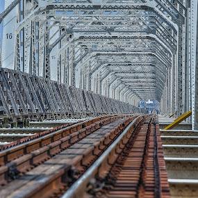 Railroad bridge by Ryusuke Komori - Travel Locations Railway ( japan, railroad, osaka, train, bridge )