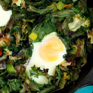 One-Skillet Garlicky Green Eggs (No Ham)