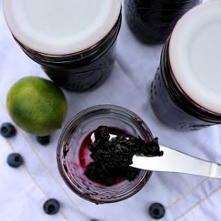 Low Sugar No Pectin Blueberry Lime Jam
