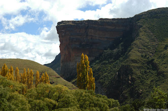 Photo: The Brandwag (Sentinel as seen from the opposite side. Golden Gate Highlands National Park (South Africa).