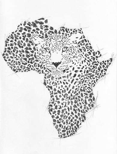 Symbol Africa In Leopard Camouflage All Drawing Drawing Pixoto