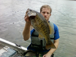 "Photo: March 24, 2012 - Sam Simons with a ""toad"" smallmouth."