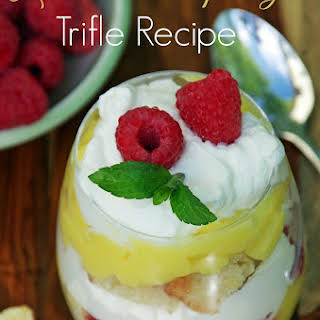 Lemon Raspberry Trifle.