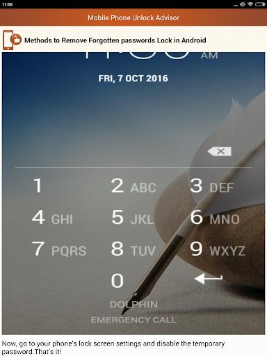 Clear Mobile Password PIN Help  screenshots 13