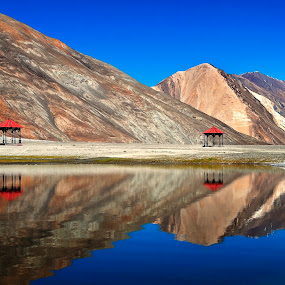 Reflections by Jasminder Oberoi - Landscapes Waterscapes ( canon, canon 5d mark ii, pangong tso, incredible india, reflections, lake, ladakh, travel, places, landscape, light chasers, leh, nature, photo tour, blue, india, bliss, jas fotography )