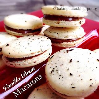 Vanilla Bean French Macarons