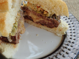 Stuffed Green Chilies Burger Recipe