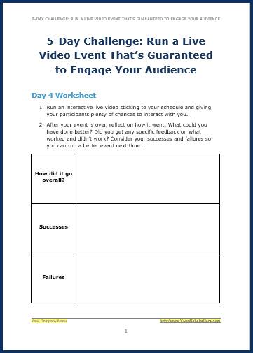 Live Video Marketing - Bonus ChallengeW4