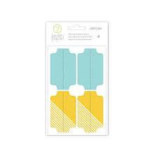 Seven Paper Memorabilia Attacher Stickers 4/Pkg - Darcy UTGÅENDE