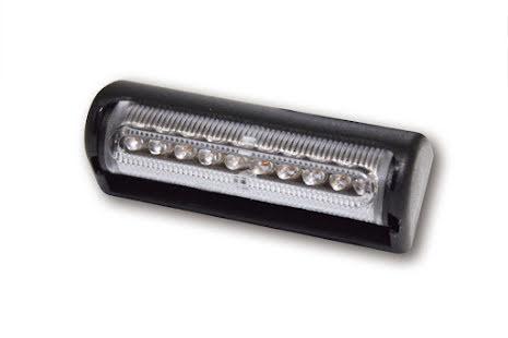 Multiflex LED-bakljus. Svart, vit lins