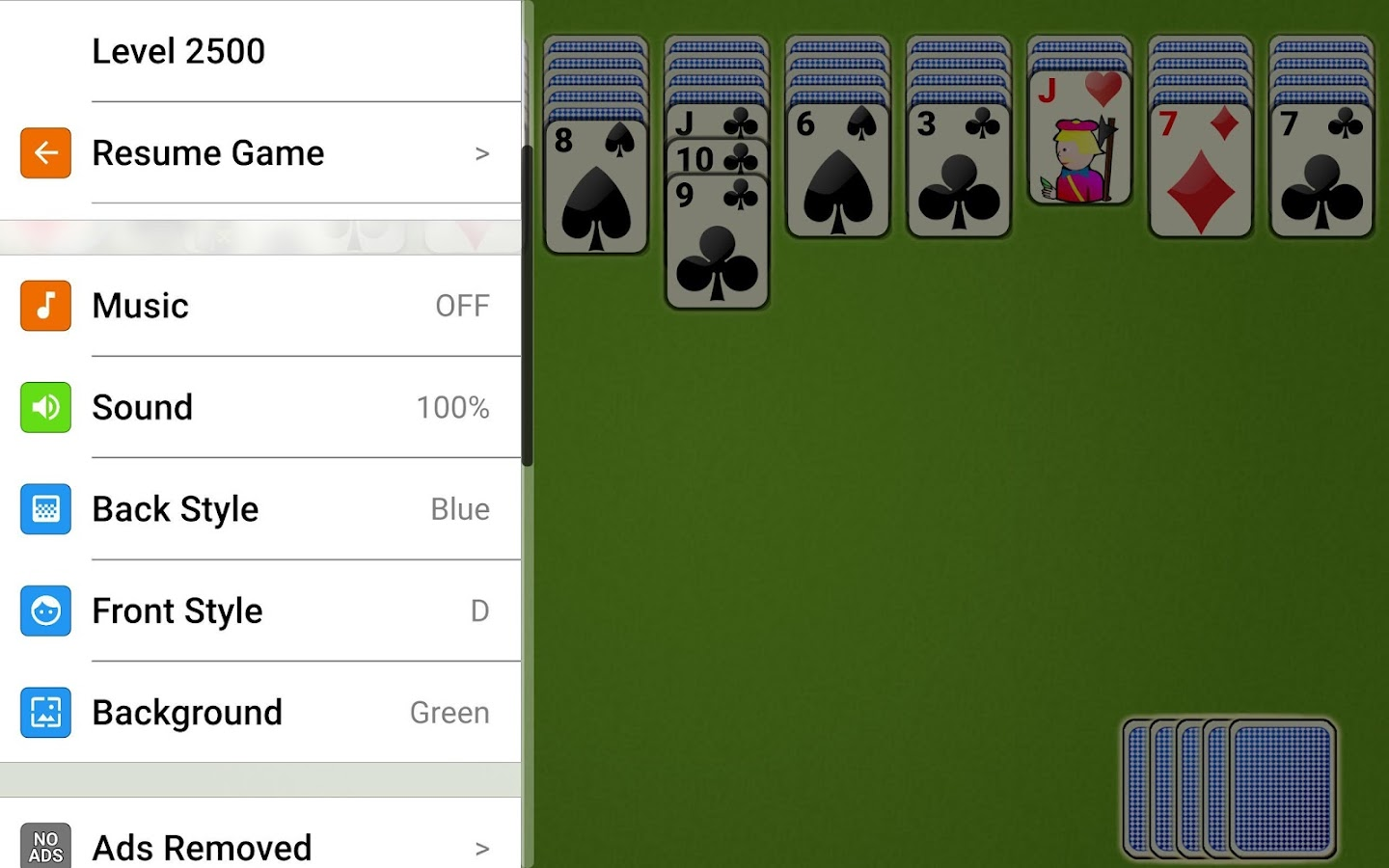Spider Solitaire Epic- screenshot