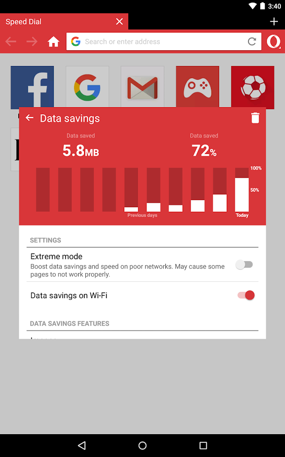 Screenshots of Opera Mini - fast web browser for iPhone