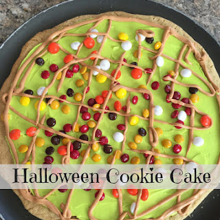 Halloween Cookie Cake (Use Up Halloween Candy)