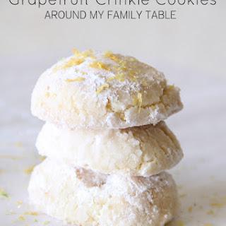 Grapefruit Crinkle Cookies