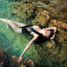 Vitamin S(ea) by Gregor Grega - Nudes & Boudoir Boudoir ( lovely, beauty, sexy, water, summer, sea, canon, boudoir, beautiful, amazing, swimming, rocks, gorgeous, model, swimsuit, posing, fashion )