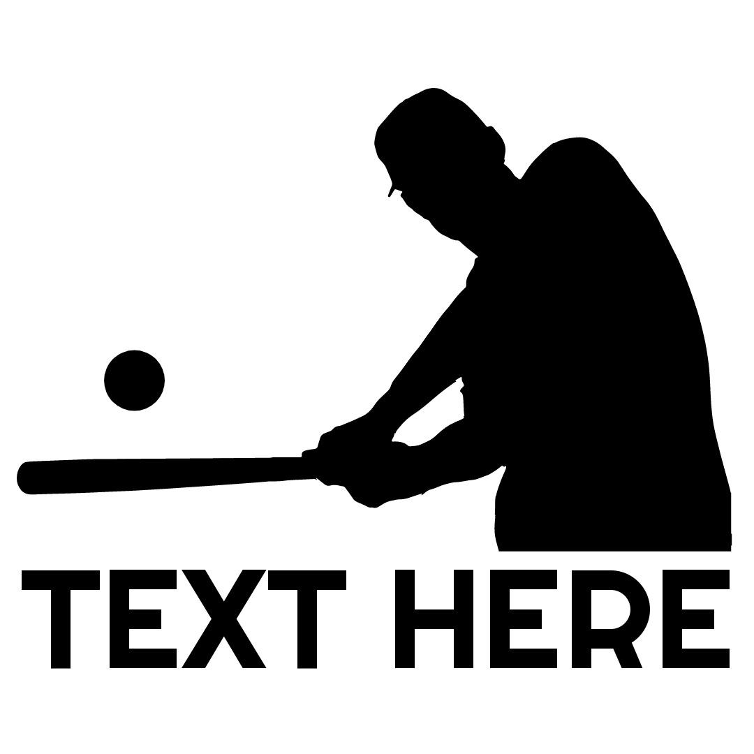hitting baseball logo
