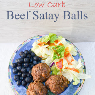 Low Carb Beef Satay Balls