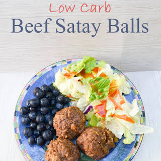 Low Carb Beef Satay Balls.