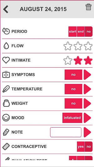 8 Ovulation & Period Calendar App screenshot