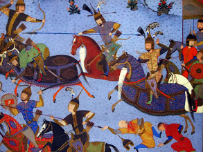 Photo: Tabrizi miniatüra, Timurida csatajelenet, Tabriz miniature
