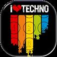 Techno Musik Bildschirm sperren