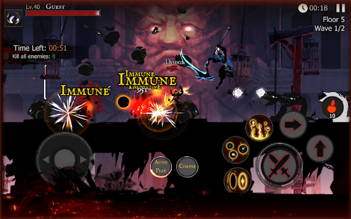 Shadow of Death: Stickman Fighting - Dark Knight Screenshot