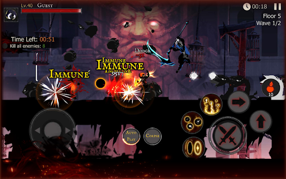 Shadow of Death: Stickman Fighting - Dark Knight apk screenshot