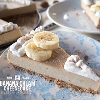 Raw Paleo Banana Cream Cheesecake