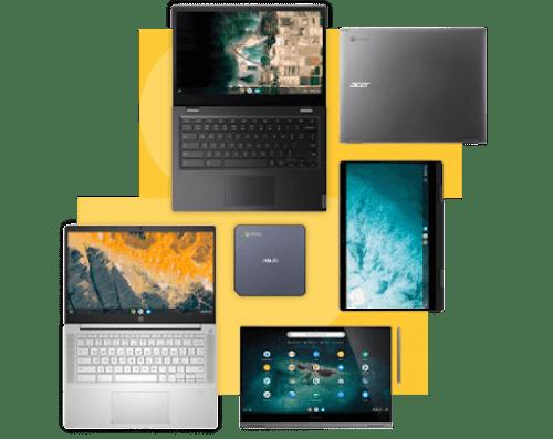 Устройства Chrome для разных потребностей бизнеса