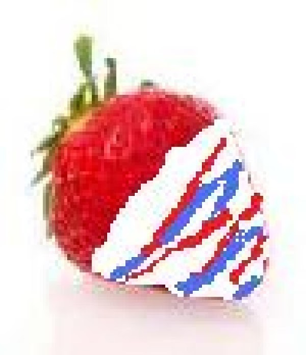 Red, White, And Blue Dipped Strawberries Recipe