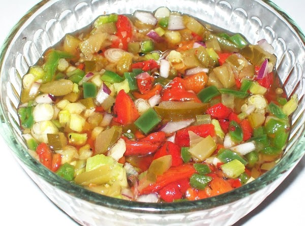 Once the brine is cool, pour over the chopped vegetables, stir and refrigerate for...