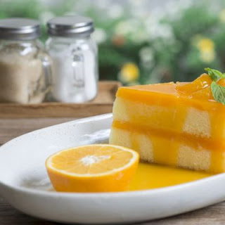 Sweetened Lemon-Orange Curd Poke Cake