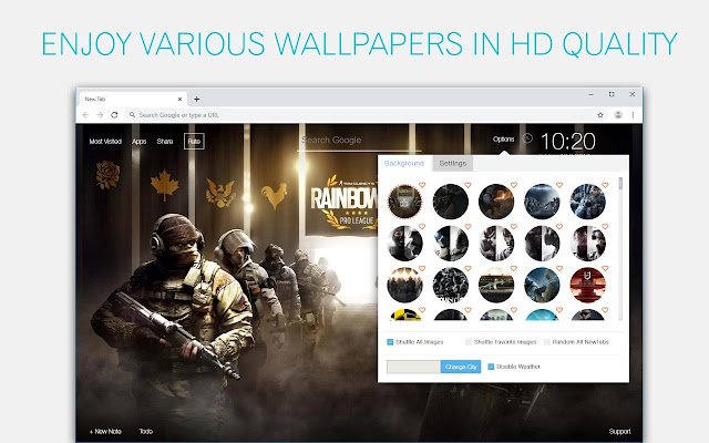 Rainbow Six Siege Wallpaper HD New Tab Theme
