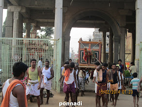 Photo: emperumAnAr coming out of the temple