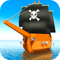 Cube Seas: Pirate Fight 3D icon