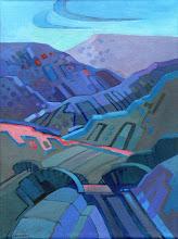 "Photo: ""Mitchell Canyon"", acrylic on linen 16"" x 12"", © Nancy Roberts"