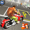 SuperHero Bike Rider: Parking Adventure