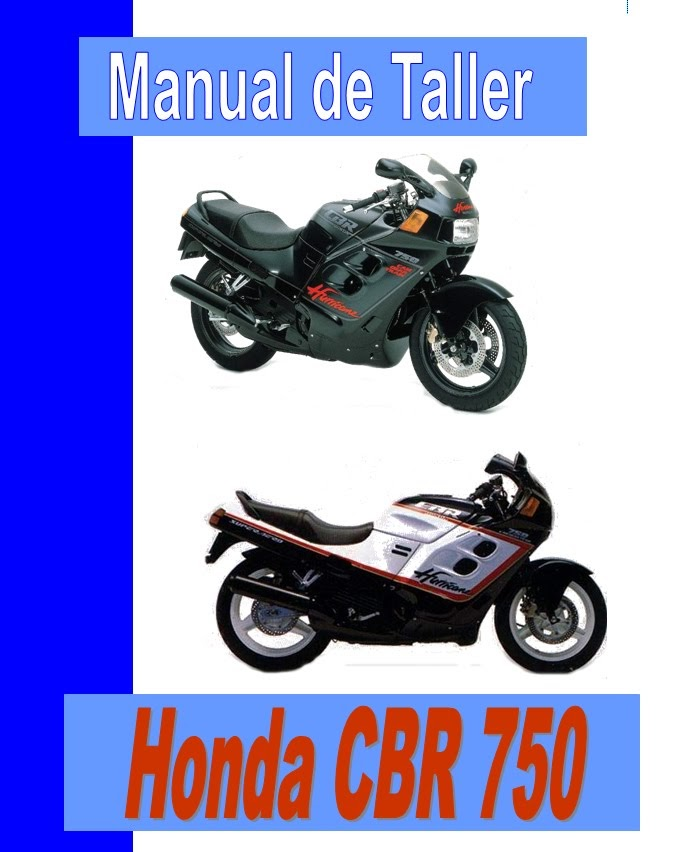 honda CBR 750 f Hurricane-manual-taller-mecanica-despiece