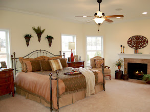 Photo: The master bedroom in the LEIGHTON model home at Brookhaven Estates
