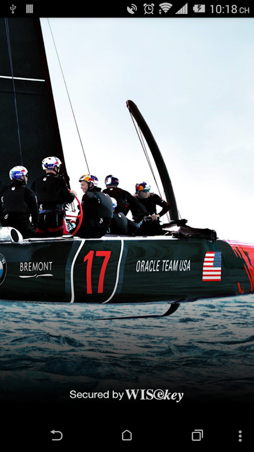 ORACLE TEAM USA WISfans App- screenshot