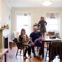 Photo: title: Anne McGroarty, Sean, Lulu + Freya O'Tyson, Brooklyn, New York date: 2015 relationship: friends, art, met through Joe Wardwell years known: Sean, 10-15; Anne 5-10